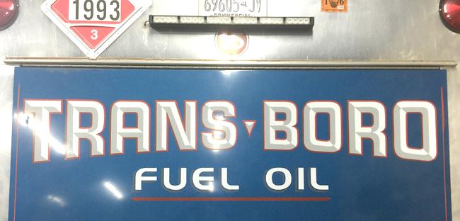 Trans-Boro Fuel Oil truck logo