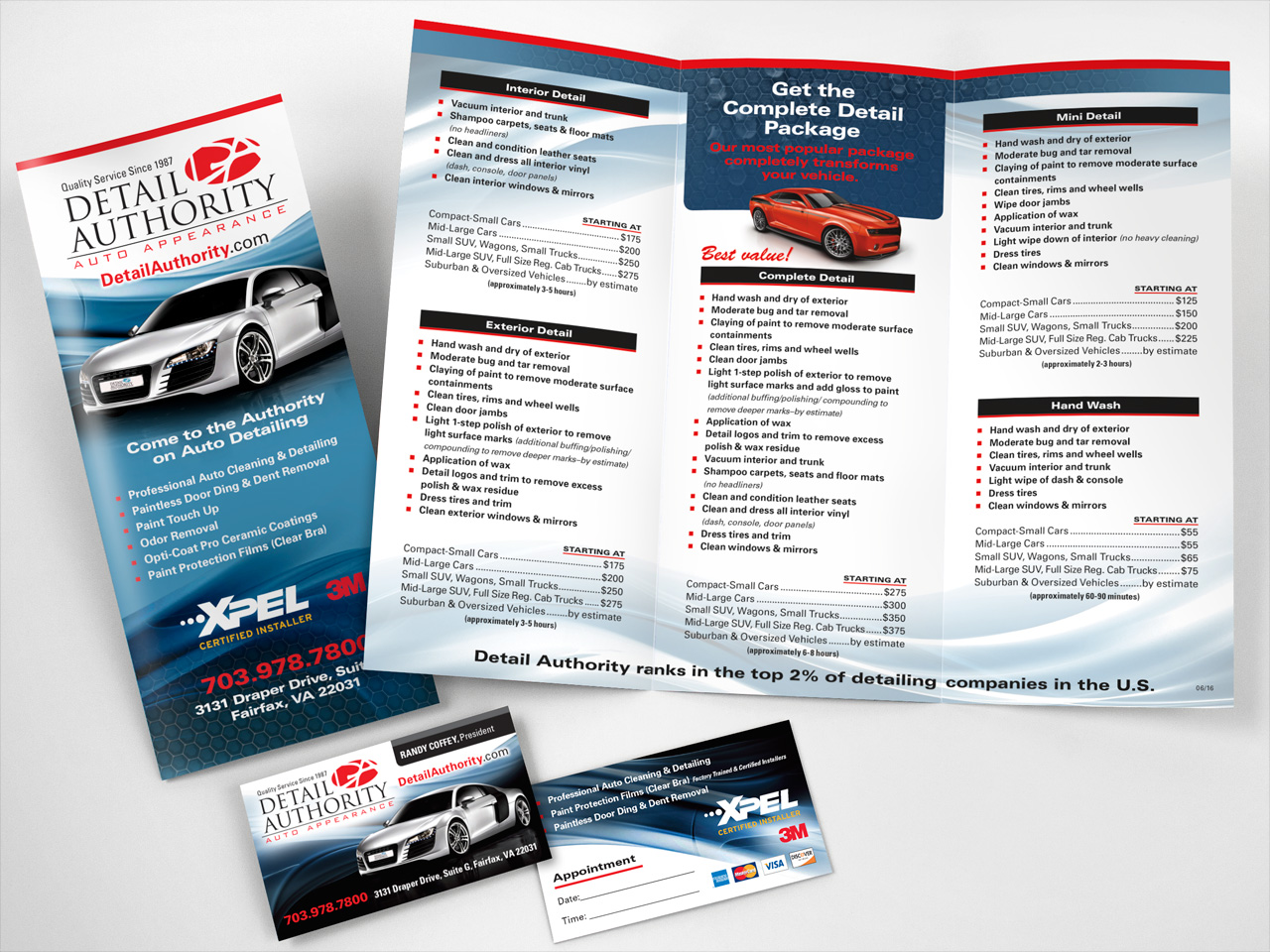 Detail Authority Auto Detailing Brochure