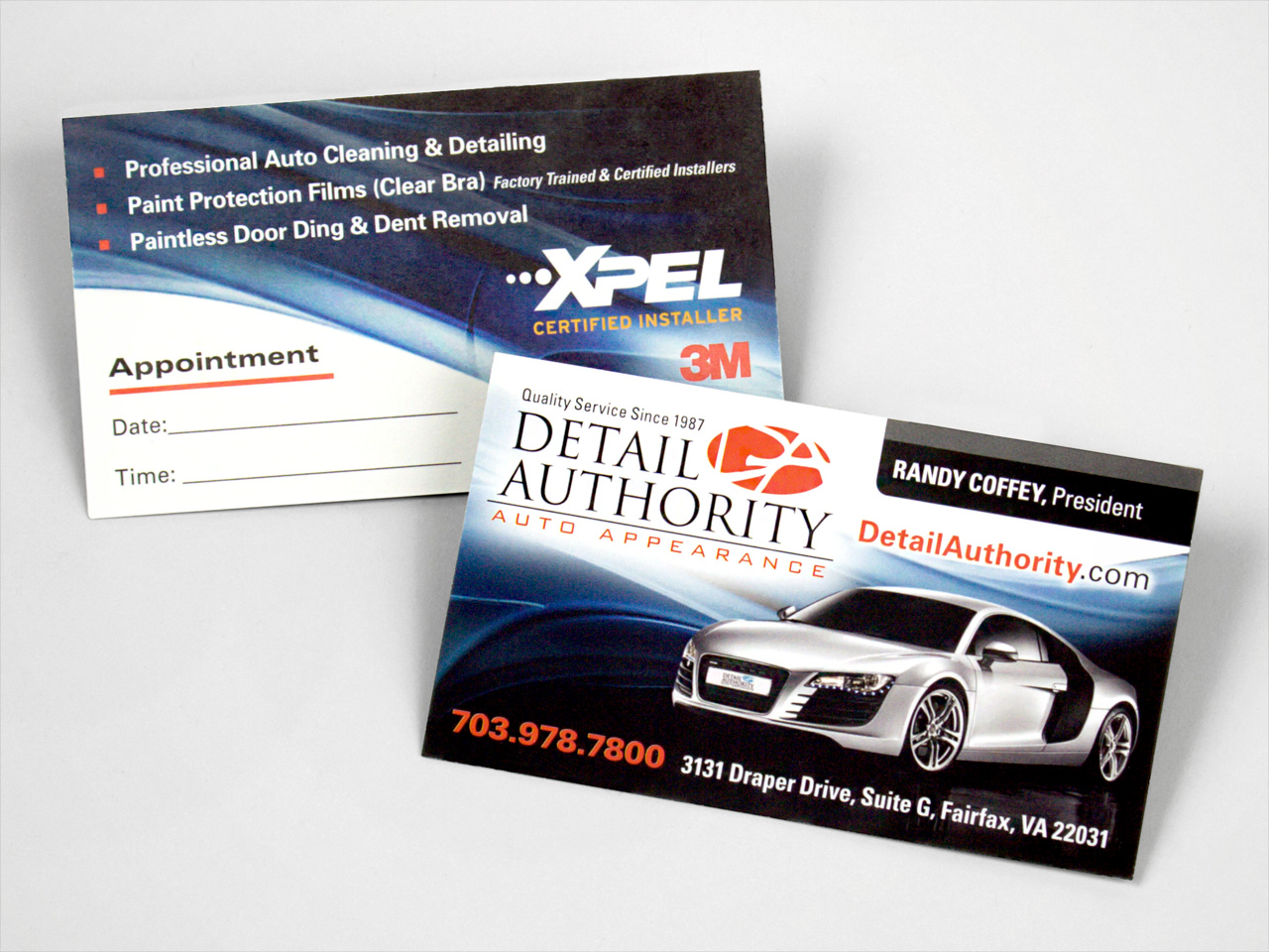 Detail Authority Auto Detailing Business Cards