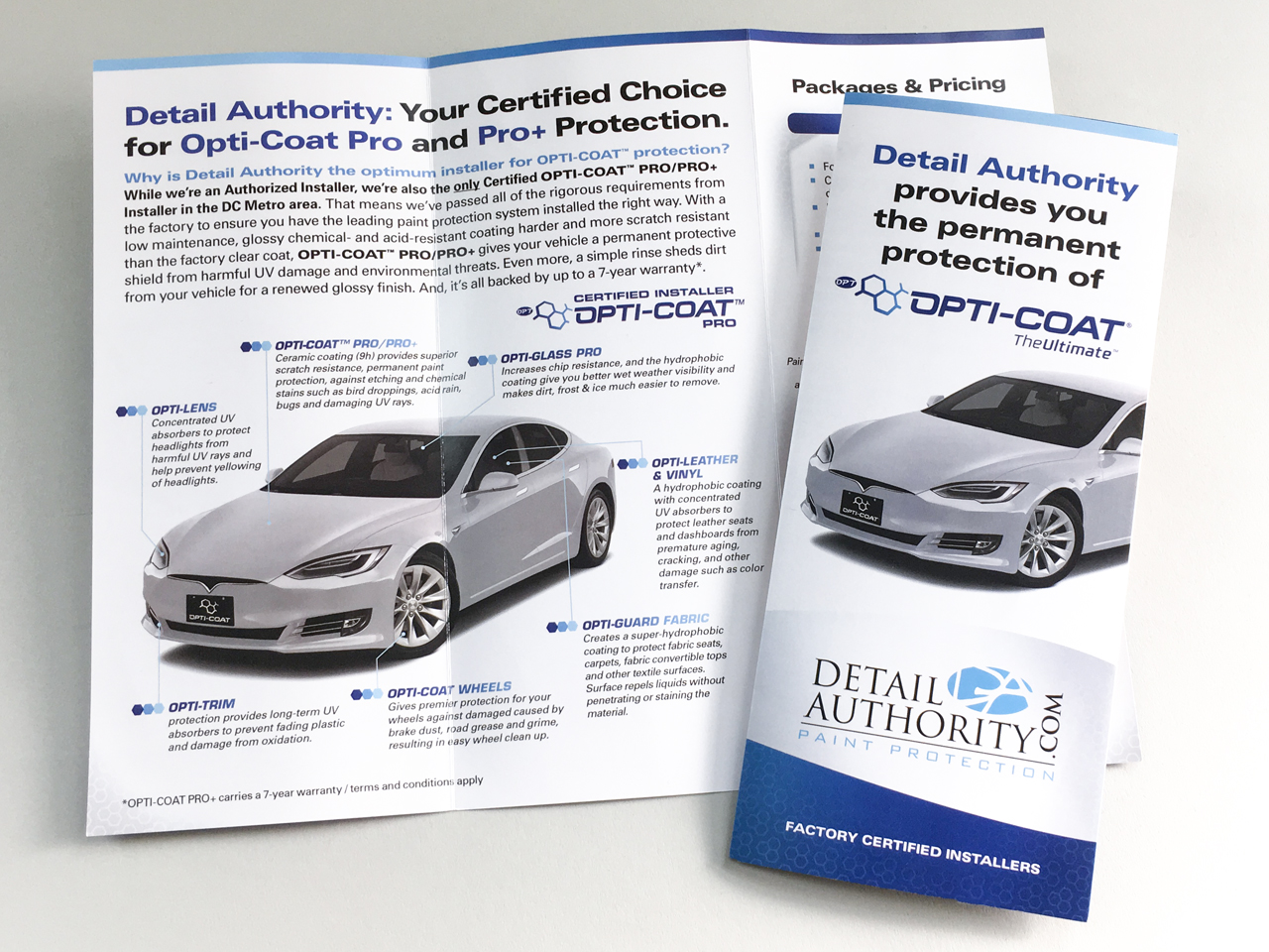 Detail Authority Opti-Coat Brochure